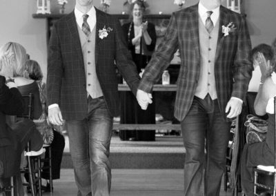 Casual. light-hearted Wedding couple, two men, gay marriage